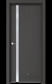 Межкомнатная дверь Стиль-1 Кофейное дерево (Белый триплекс) (ESTET)