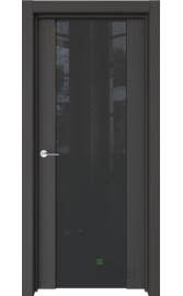 Межкомнатная дверь Стиль Полное Кофейное дерево (Черный триплекс) (ESTET)