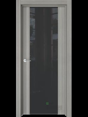 Межкомнатная дверь Стиль полное Керамик (Черный триплекс) (ESTET)