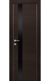Межкомнатная дверь Титан 3 Орех Темный Черный лакобель (Дубрава Сибирь)