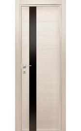 Межкомнатная дверь Титан 3 Лиственница Черный лакобель (Дубрава Сибирь)