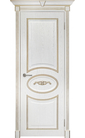 Межкомнатная дверь ПГ Валенсия Жемчуг с патиной (Дубрава Сибирь)