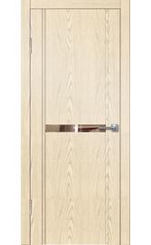 Межкомнатная дверь LINE M1 крем (зеркало бронза)