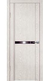 Межкомнатная дверь LINE M1 дым (зеркало черное)
