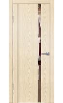 Межкомнатная дверь LINE M2 крем (зеркало бронза)