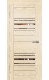 Межкомнатная дверь Грация 5 крем (зеркало бронза)