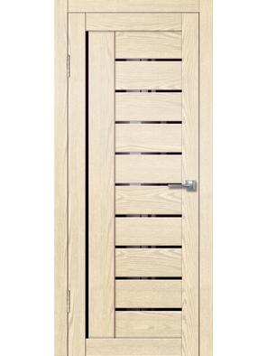 Межкомнатная дверь Палермо 7 крем (черное)