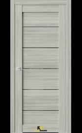 Межкомнатная дверь Q12 Дуб скальный (черный лакобель)