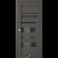 Межкомнатная дверь Q13 Орех макадамия (черный лакобель)