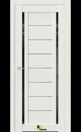 Межкомнатная дверь Q33 Лиственница белая (черный лакобель)