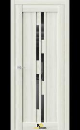 Межкомнатная дверь Q41 Клен крем (черный лакобель)