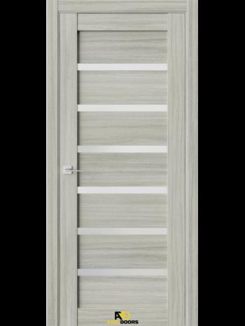 Межкомнатная дверь Q5 Дуб скальный (белый сатинат)