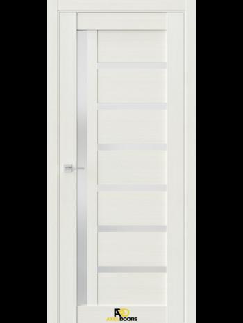 Межкомнатная дверь Q8 Лиственница белая (белый сатинат)