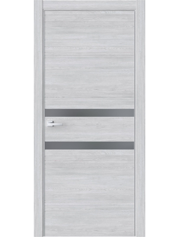 Межкомнатная дверь QIN13 Клен айс (зеркало графит)