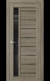Межкомнатная дверь QX1 Дуб тортора (черный лакобель)