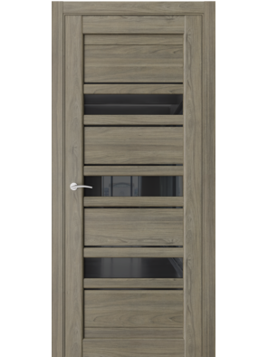 Межкомнатная дверь QX3 Дуб тортора (черный лакобель)