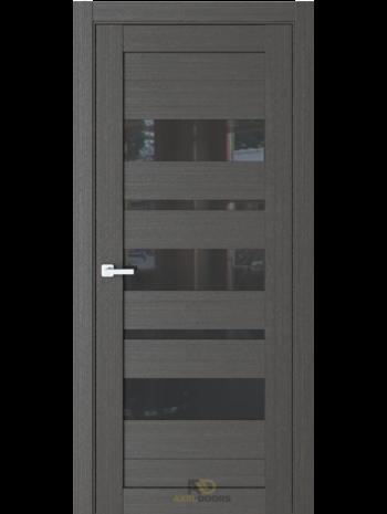 Межкомнатная дверь R19 Кофейное дерево (черный лакобель)