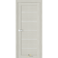 Межкомнатная дверь R6 Капучино (белый сатинат)