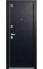 Входная дверь LUX-11 черный муар - белый скол дуба (Центурион)