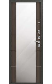 Входная дверь C-104 черный муар - миндаль (Центурион)