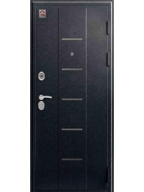 Входная дверь C-105 черный муар - лиственница темная (Центурион)