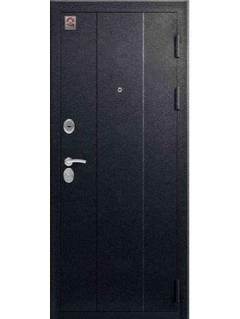 Входная дверь C-107 черный муар - лиственница светлая (Центурион)