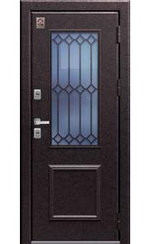 Входная дверь ТЕРМО ТС-1 Медный муар-Миндаль Стеклопакет (Центурион)