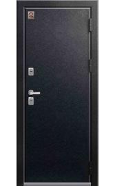 Входная дверь ТЕРМО Т-2 черный муар-дуб полярный 2020 (Центурион)