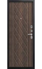 Входная дверь C-106 черный муар - тиковое дерево (Центурион)
