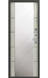 Входная дверь C-104 черный муар - полярный дуб (Центурион)