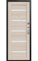 Входная дверь C-105 черный муар - лиственница светлая (Центурион)