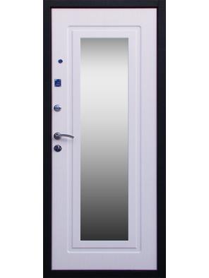 Входная дверь Стандарт Зеркало беленый дуб