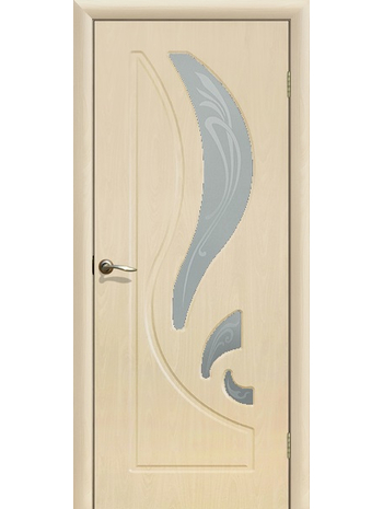 Межкомнатная дверь ДО Лилия Беленый дуб