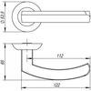 Ручка  ALFA  TL  SN/CP-3 матовый никель/хром