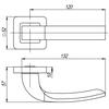 Ручка ORION QR SN/CP-3 мат.никель/хром