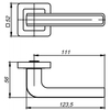 Ручка NOVA QR SN/WH-19 мат.никель/белый