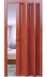 Межкомнатная дверь-гармошка Вишня